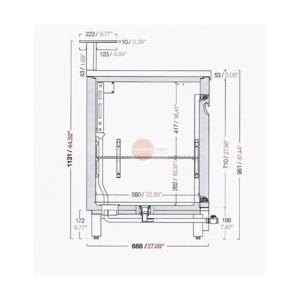 Banco bar refrigerato 3 porte+motore cm 200 semilavorato-BB200/3