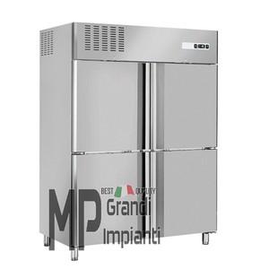 Armadio congelatore inox 4 mezze porte Temp -18° -22°C-RNM1390