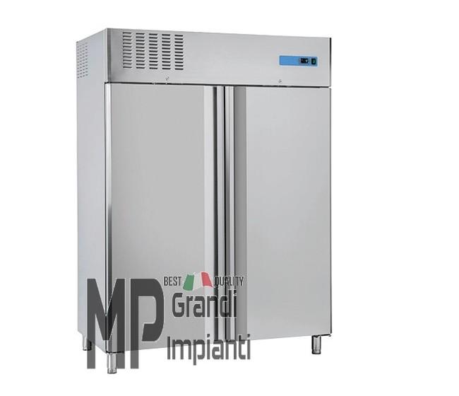Armadio refrigerato pasticceria 2 porte inox temp.-18°-22°C con guide per vassoi-RN1640