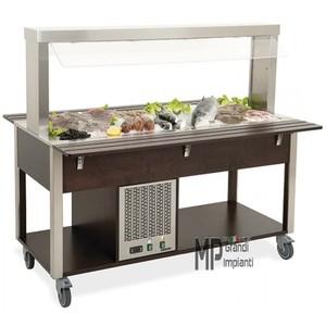 Buffet freddo ad isola 6x GN 1/1-69006W