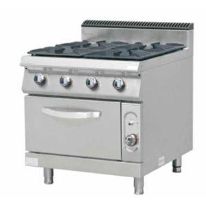 Cucina a gas 4 fuochi con forno a gas-F7/KUG4LO