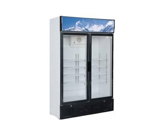 Armadio Refrigerato Statico\Espositore Bibite due porte Temp. +2° +8°C