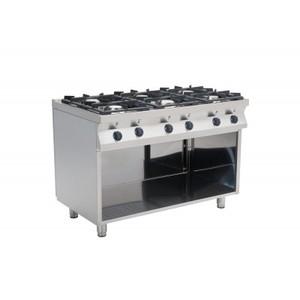 Cucina a gas 6 fuochi cm 120x70x85h-F7/KUG6BA