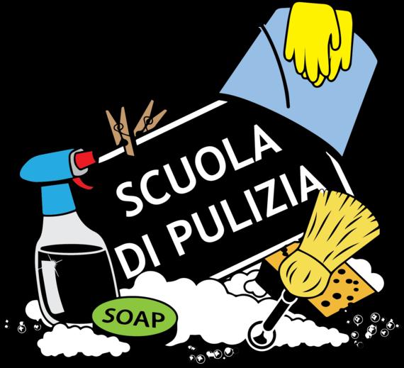 Logo scuola di pulizia