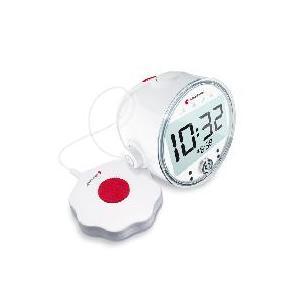 """BE1580 - Sveglia digitale con ricevitore RF incorporato """"868"""" e completa di dispositivo esterno a vibrazione/sonoro"""