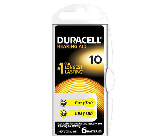 DURACELL Batterie Acustiche Easy Tab 10