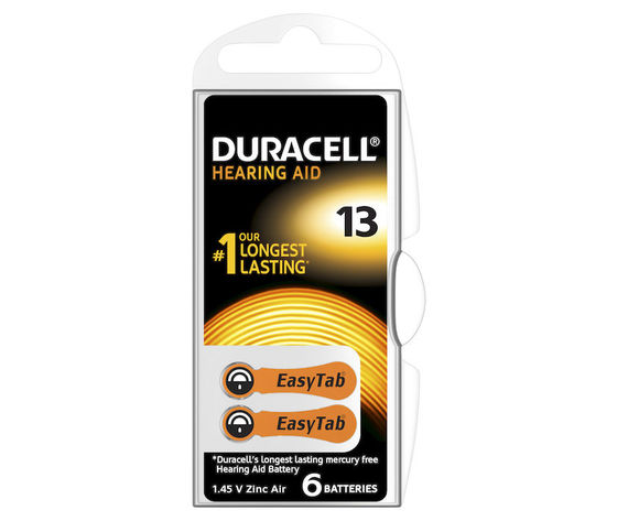 DURACELL Batterie Acustiche Easy Tab 13
