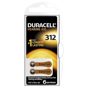 DURACELL Batterie Acustiche Easy Tab 312