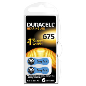 DURACELL Batterie Acustiche Easy Tab 675