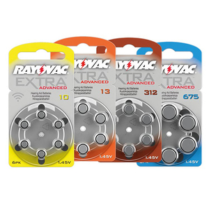 Pile per apparecchi acustici Rayovac Extra Advanced Mercury Free 10