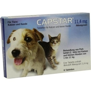 CAPSTAR 1 blister 6cpr 11,4mg