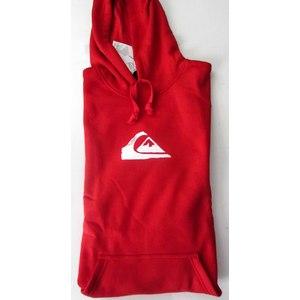 Felpa con Cappuccio Uomo Quiksilver Modello Corporate logo colore rosso - Taglia L
