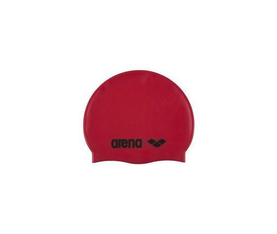 Cuffia Arena Modello Classic Silicone Cap red black unisex