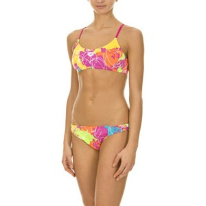 costume bikini arena donna modello routes rose violet yellow star TAGLIA 42