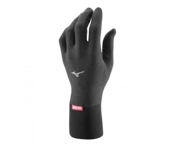 sottoguanti  Mizuno Modello black breath thermo fleece glove lightweight SIZE S