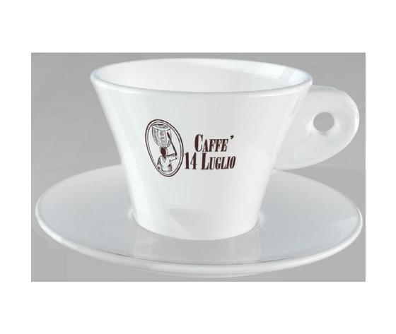 Tazzina Cappuccino Caffè 14 Luglio - Set da 18 Tazzine