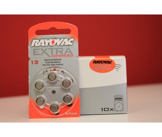 60 BATTERIE RAYOVAC EXTRA 13 ZA , PR48