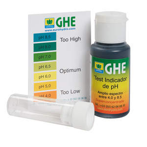 PH TEST KIT 30 ML | GHE GENERAL HYDROPONICS MISURATORE PH
