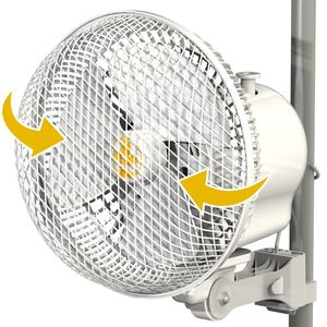 MONKEY FAN 2.0 OSCILLANTE 20W 21CM CLIP FAN 2 VELOCITA'