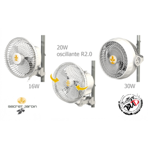Secret Jardin Monkey Fan clip per grow box VENTILATORE 16W - 20W - 30W