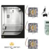 Kit grow box completo 360w led naked cob cree ventilatore