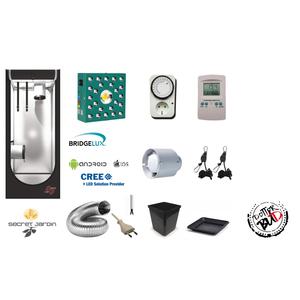 KIT GROW BOX COMPLETO 60X60X160 LED PHYTOLITE LINFA 100W