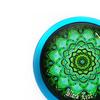 Azzurro disegno verde