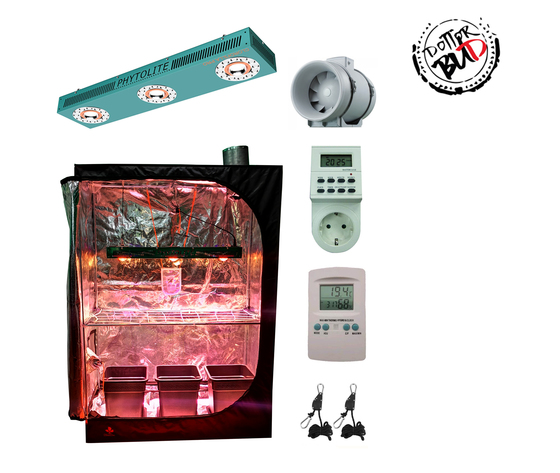 GROW BOX COMPLETA DS120W - 120X60X170H | PHYTOLITE LED 250W COLTIVAZIONE INDOOR