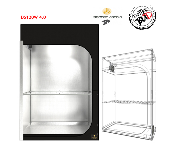 SECRET JARDIN | 120X60X178 DARK STREET DS120W V. 4.0 GROW BOX