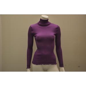 Maglia a collo alto violetto Oscalito