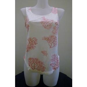 Maglietta in lino - corallo