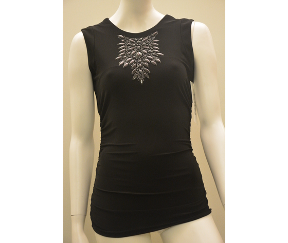 Maglietta nera strass joseph ribkoff