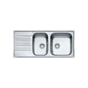 Franke GOX621 Lavello da incasso inox 116x50, due vasche e gocciolatoio