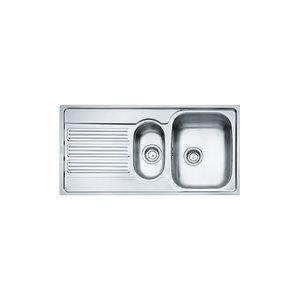 Franke GOX651 Lavello da incasso inox 100x50, due vasche e gocciolatoio