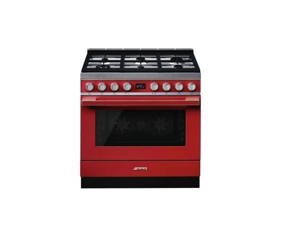 Smeg CPF9GMR cucina serie portofino piano 6 fuochi forno termoventilato colore rosso