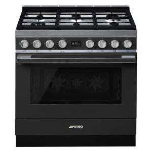 Smeg CPF9GPAN cucina serie portofino piano 6 fuochi forno pirolitico colore antracite