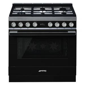 Smeg CPF9GPBL cucina serie portofino piano 6 fuochi forno pirolitico colore nero