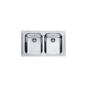 Franke LLX620-L Lavello da incasso inox 86x50 , due vasche