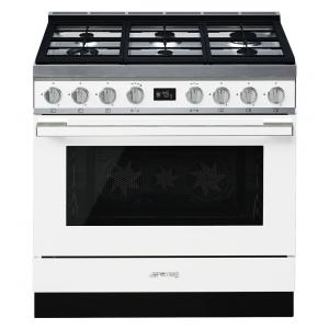 Smeg CPF9GPWH cucina serie portofino piano 6 fuochi forno pirolitico colore bianco