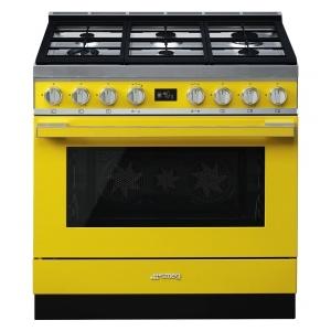 Smeg CPF9GPYW cucina serie portofino piano 6 fuochi forno pirolitico colore giallo