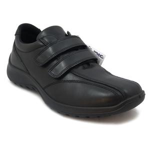 IMAC, Scarpe Uomo Sneaker in Pelle Nero Linea Comoda, Chiusura a Strap, Plantare Estraibile, 80860