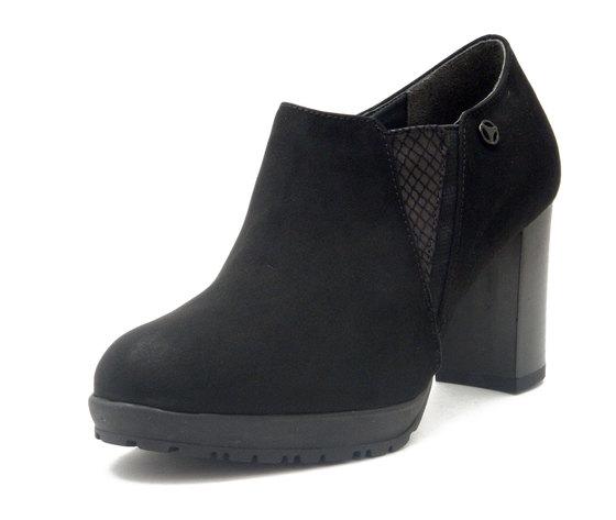 Cinzia Soft, Scarpe Donna alla caviglia in eco camoscio Nero, Tacco Medio Alto 7 cm e Plateau, 352774