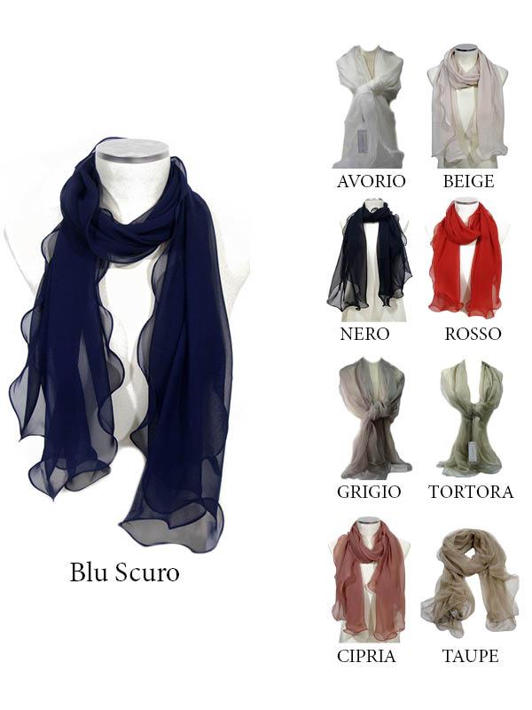 diventa nuovo comprando ora design unico Stola elegante da cerimonia/sera in Vera Seta Chiffon, vari colori ...