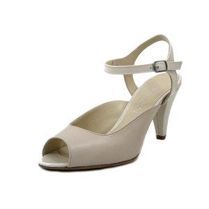 Osvaldo Pericoli, Sandalo Donna Elegante in Pelle Beige, Tacco Medio Alto 8 cm