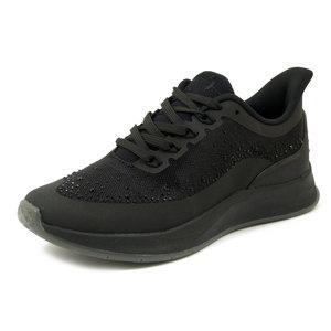 Tamaris, Scarpe Donna sportive Sneaker in Tessuto Nero con Strass, Plantare Estraibile, 23721