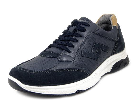 IMAC, Scarpe Uomo Sneaker in Pelle Blu, Sottopiede Estraibile, 503270