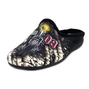 Pantofole Uomo Invernali in Caldo Tessuto Fantasia, Plantare Estraibile
