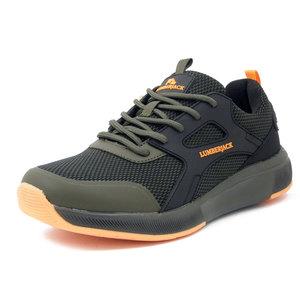 Lumberjack, Scarpe Uomo Sportive Sneaker Verde Militare e Nero, Plantare Memory Estraibile, 74111