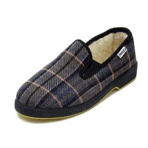 Emanuela, Scarpa Pantofola Uomo invernale in tessuto elasticizzato e imbottita in Lana, 588