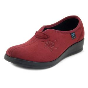 Fly Flot, Pantofole Donna Chiuse Invernali in Tessuto Rosso bordeaux, Zeppa Bassa, N3747